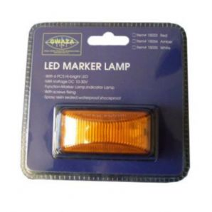 Lamp Marker LED Amber 12/24V
